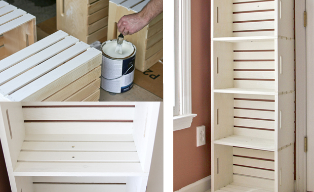 selbermachen regal aus kisten himbeer magazin. Black Bedroom Furniture Sets. Home Design Ideas