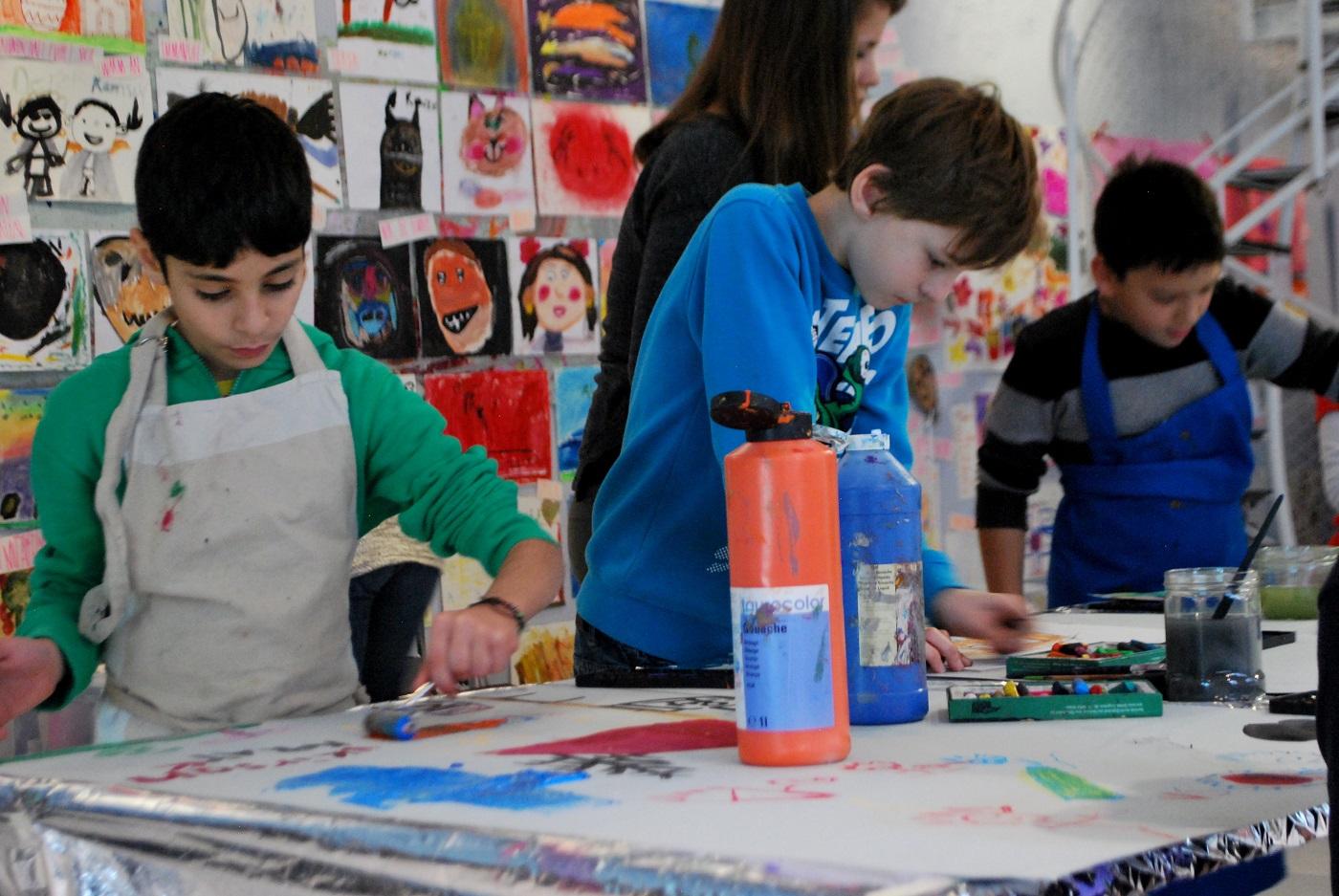 Kinder Kreativkurse little Art // HIMBEER