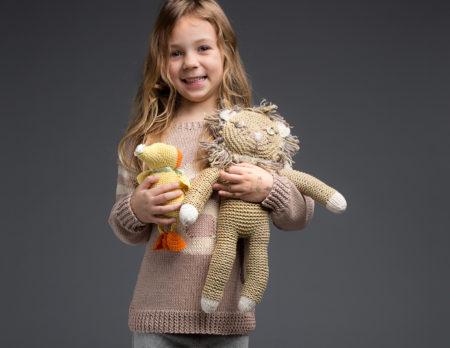 Gestrickter Löwe DIY-Kuscheltier   Berlin mit Kind