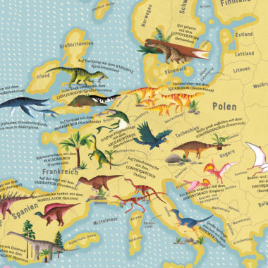 Kinderbuch-Tipp: Atlas der Dinosaurier von Lucy Letherland   Berlin mit Kind
