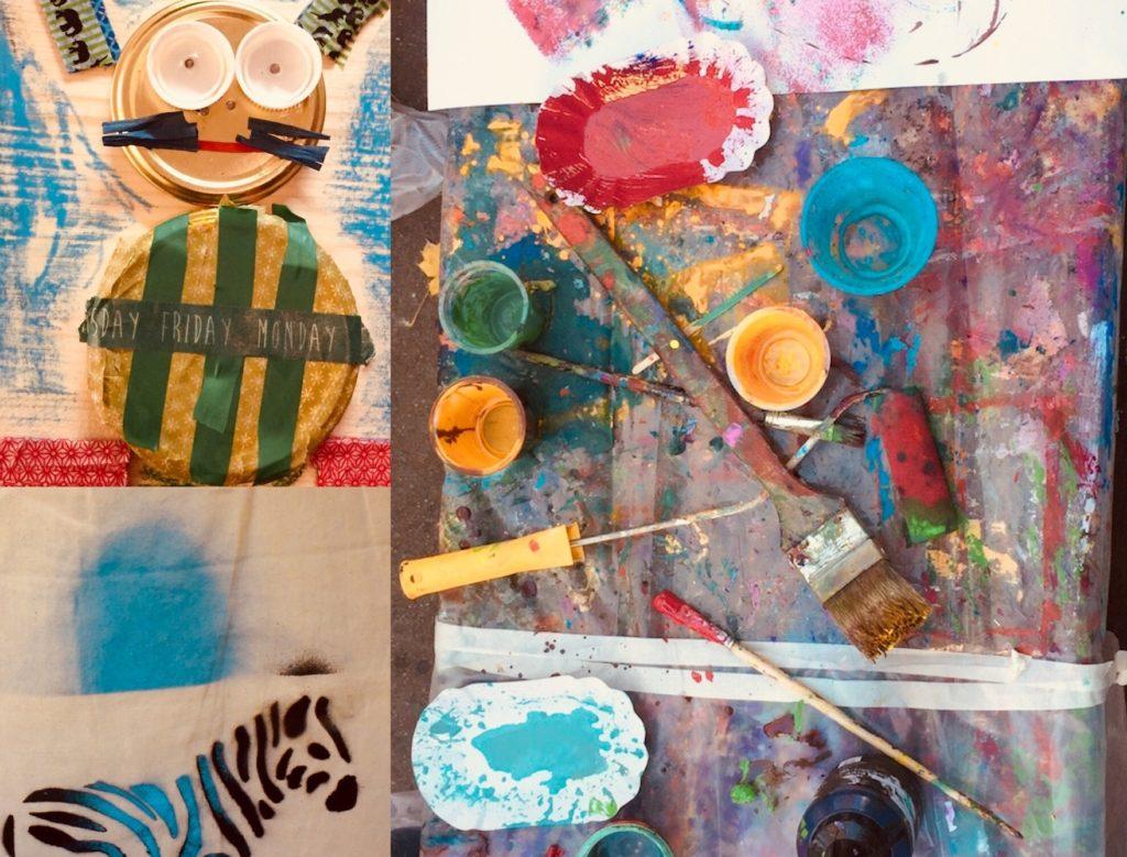 Collage Himbeer Kurse Kreativ | München mit Kind