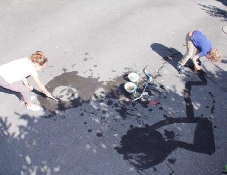 Berlin mit Kind DIY Wassermalerei KILUDO