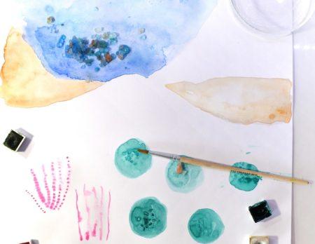 Wasserpflanzen Aquarelle create flowers | Muenchen mit Kind