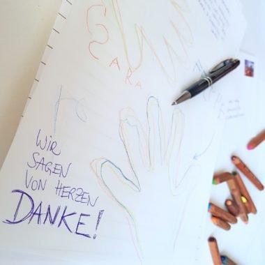 Hebammen Aktion längster Brief   München mit Kind