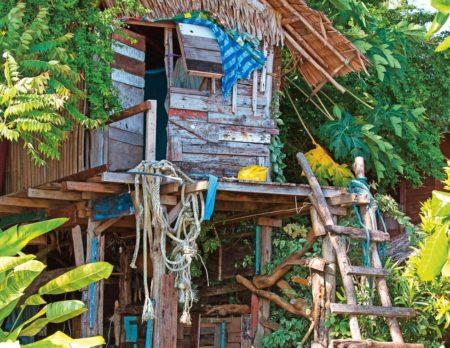 Hütte bauen Schwedenfarbe // HIMBEER