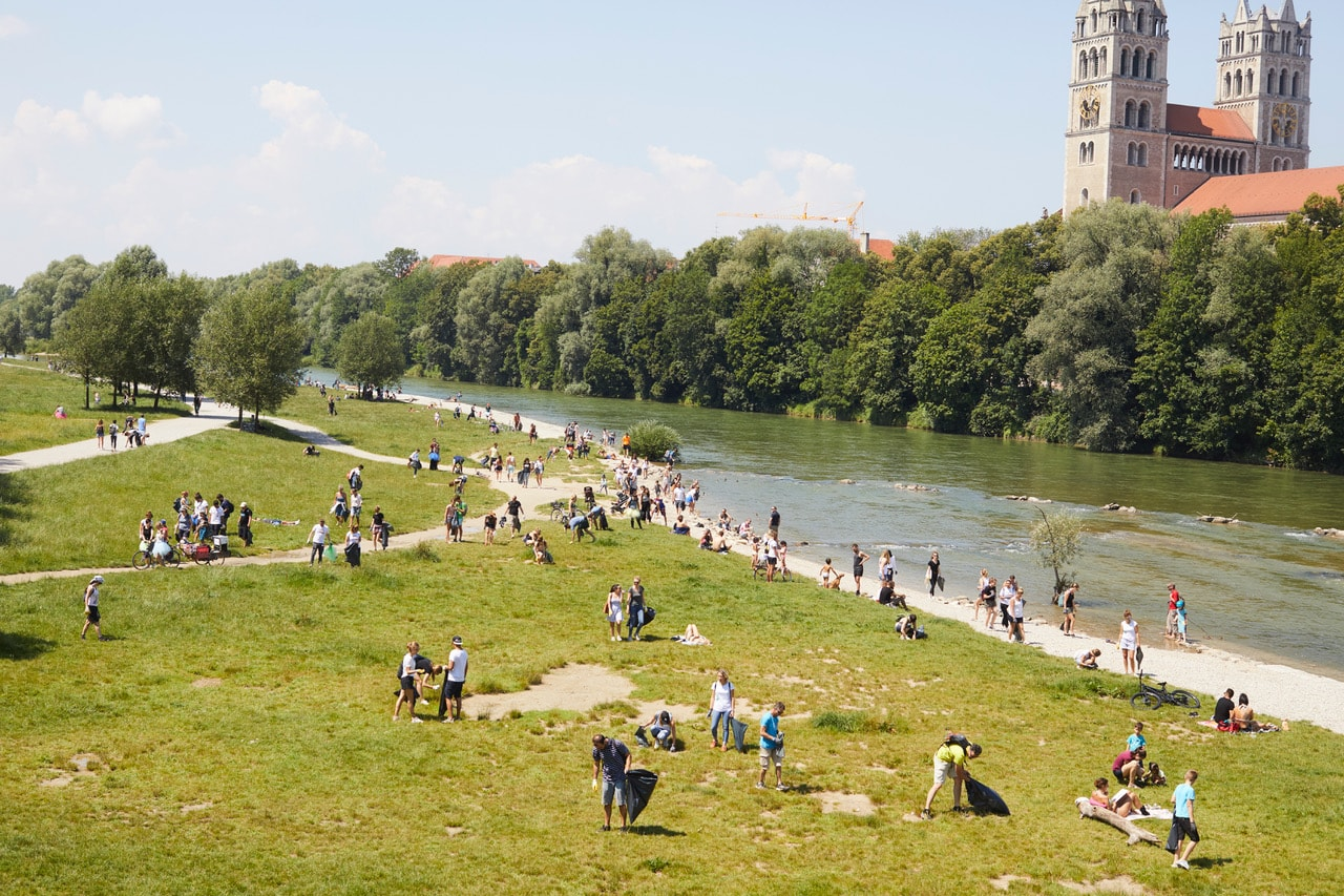 Isar Clean Up Isarauen // HIMBEER