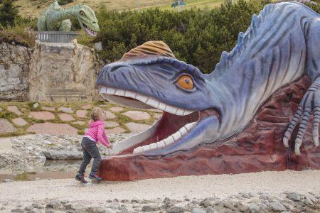 Steinplatte Dinosaurier Wandern // HIMBEER