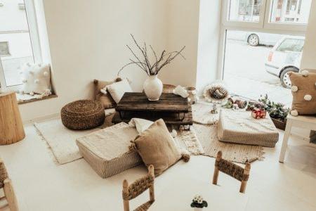 schulstart family room sitzecke // München mit Kind