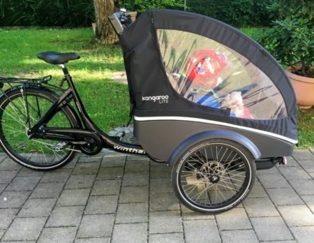 Lastenrad Winther Front // Muenchen mit Kind