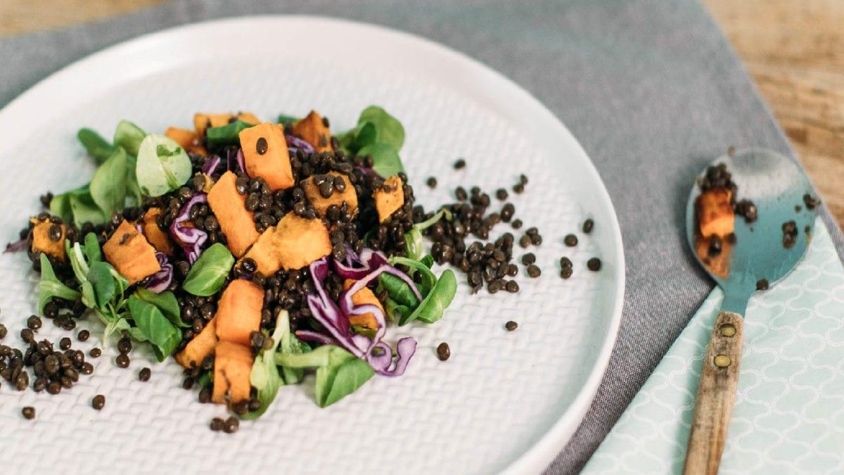 Linsen-Suesskartoffel-Salat // Muenchen mit Kind