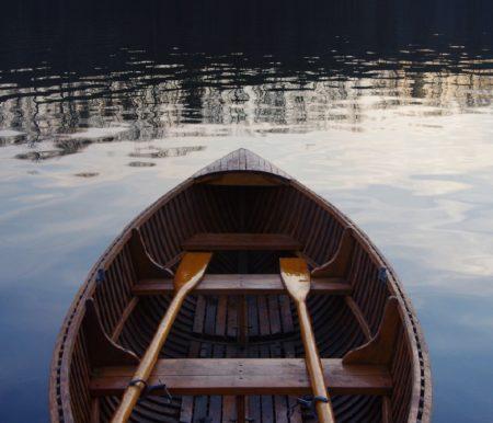 Ruderboot Boot fahren See Wasser // Muenchen mit Kind