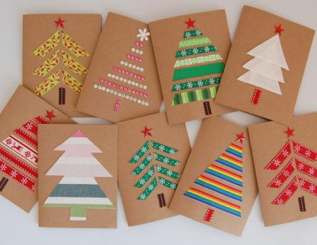 Basteln mit Kindern: Weihnachtskarten selber machen // HIMBEER