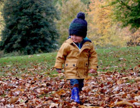 Blaetter Junge Herbst Wochenendtipps // Muenchen mit Kind