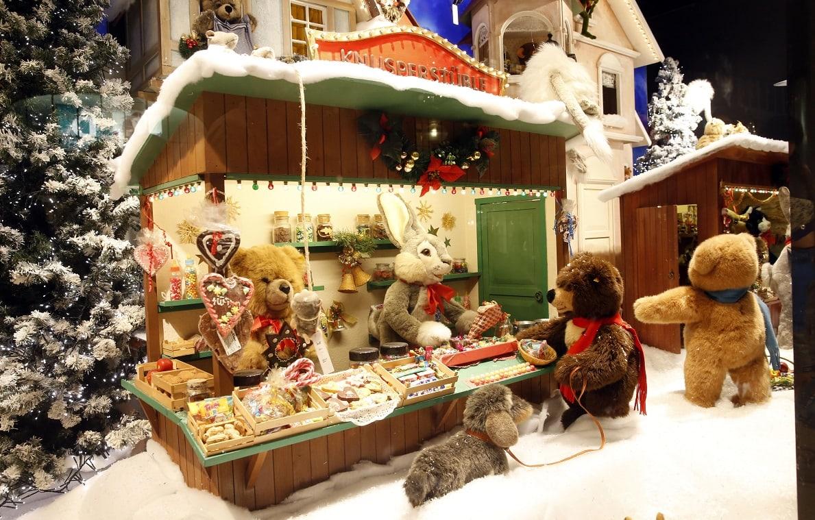Steiff Weihnachtsfenster, Galeria Kaufhof, Weihnachtstipps // München mit Kind