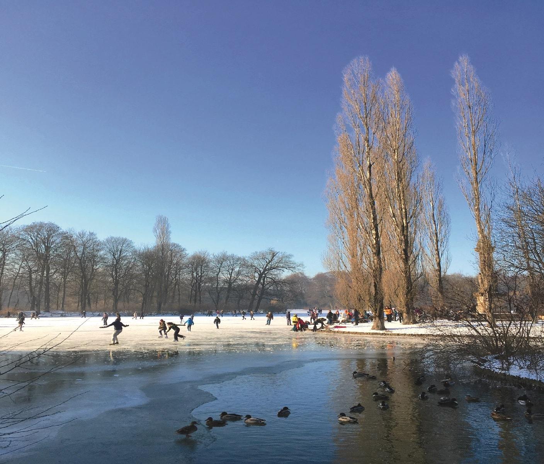 München mit Kindern im Winter: Kleinhesselohersee Eiszauber // HIMBEER