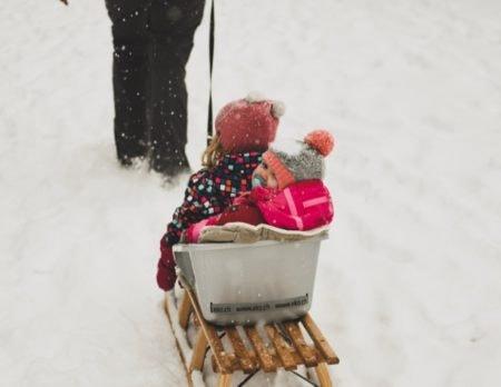 Schlitten Kinder Jugendherberge // Muenchen mit Kind