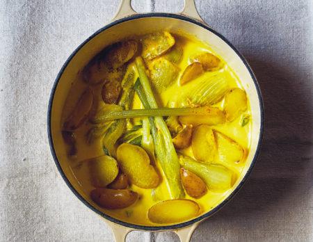 Familienessen-Rezept: Fenchel und Kartoffeln mit Safran // HIMBEER