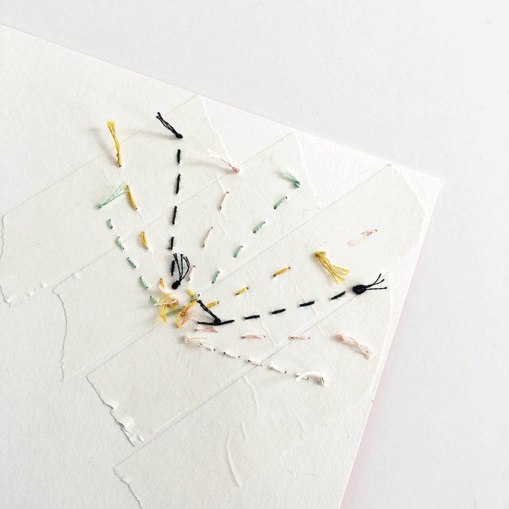 DIY, Basteln mit Kindern: Kunstvolle Weihnachtskarten selber machen // HIMBEER