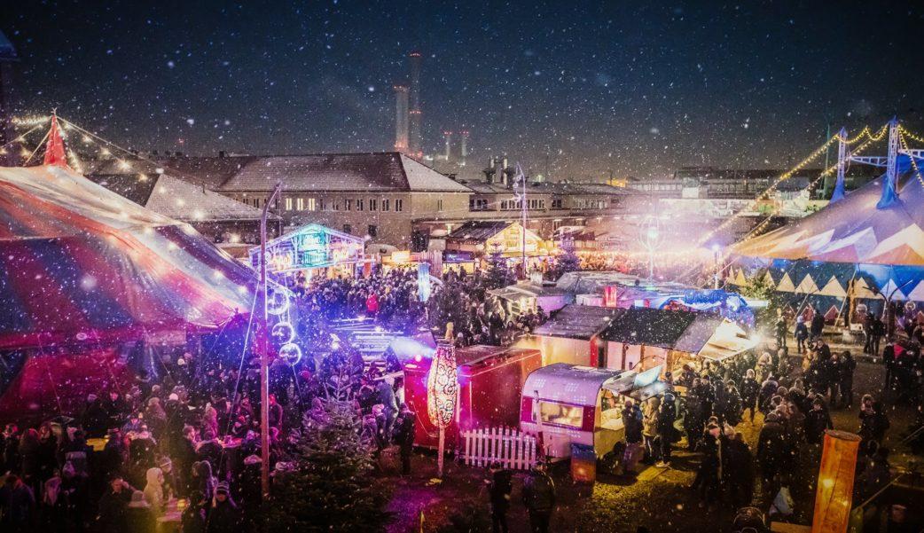 Weihnachtsmaekrte, Maerchenbazar, schneeflocken, bazar // München mit Kind