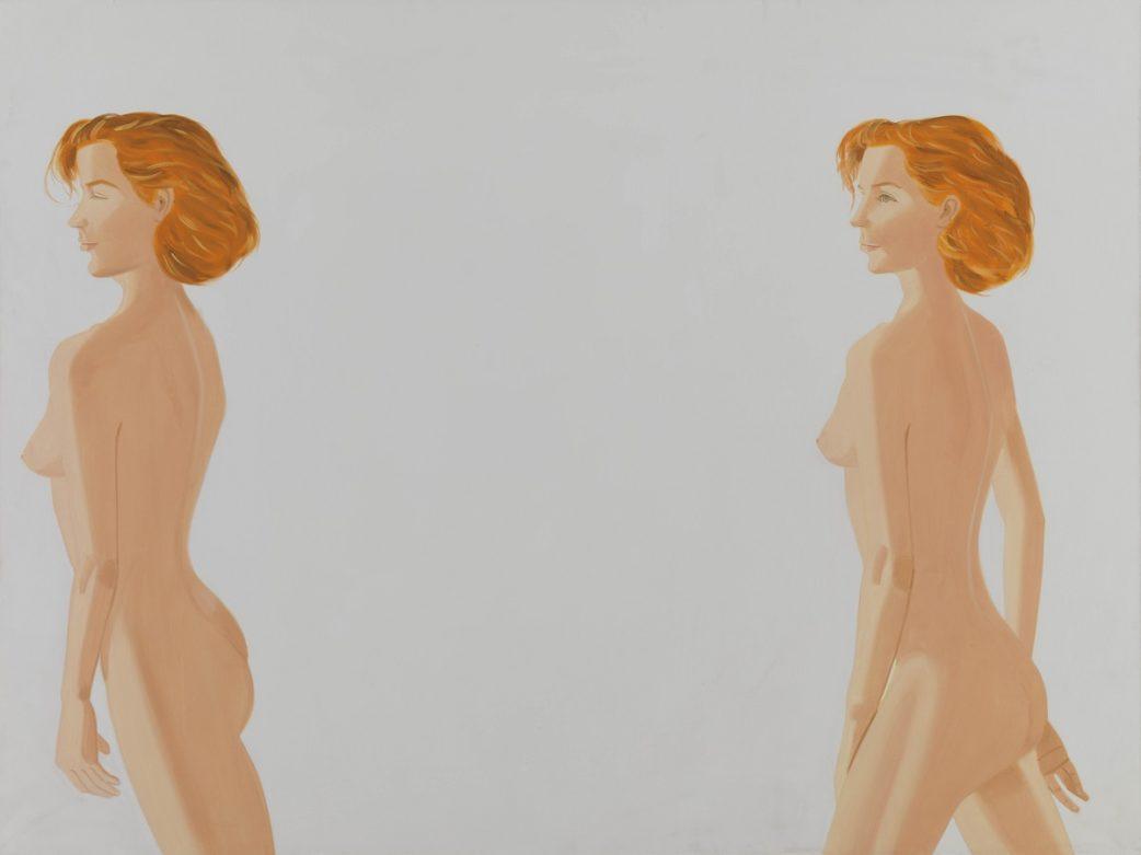 Alex Katz, nackt, Frau Nude, zwei frauen, rote Haare, red // München mit Kind