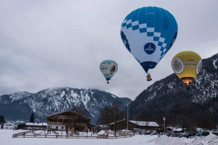 Montgolfiade Heissluftballons Winter Tegernsee // Muenchen mit Kind