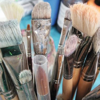 Pinsel Creativmesse Kunst // Muenchen mit Kind