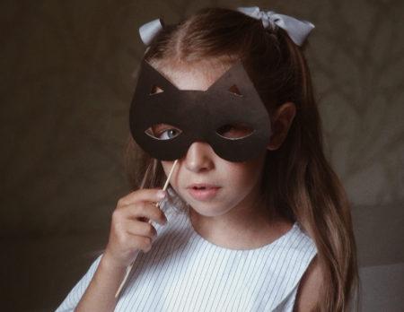 Fasching Maske Maedchen // Muenchen mit Kind