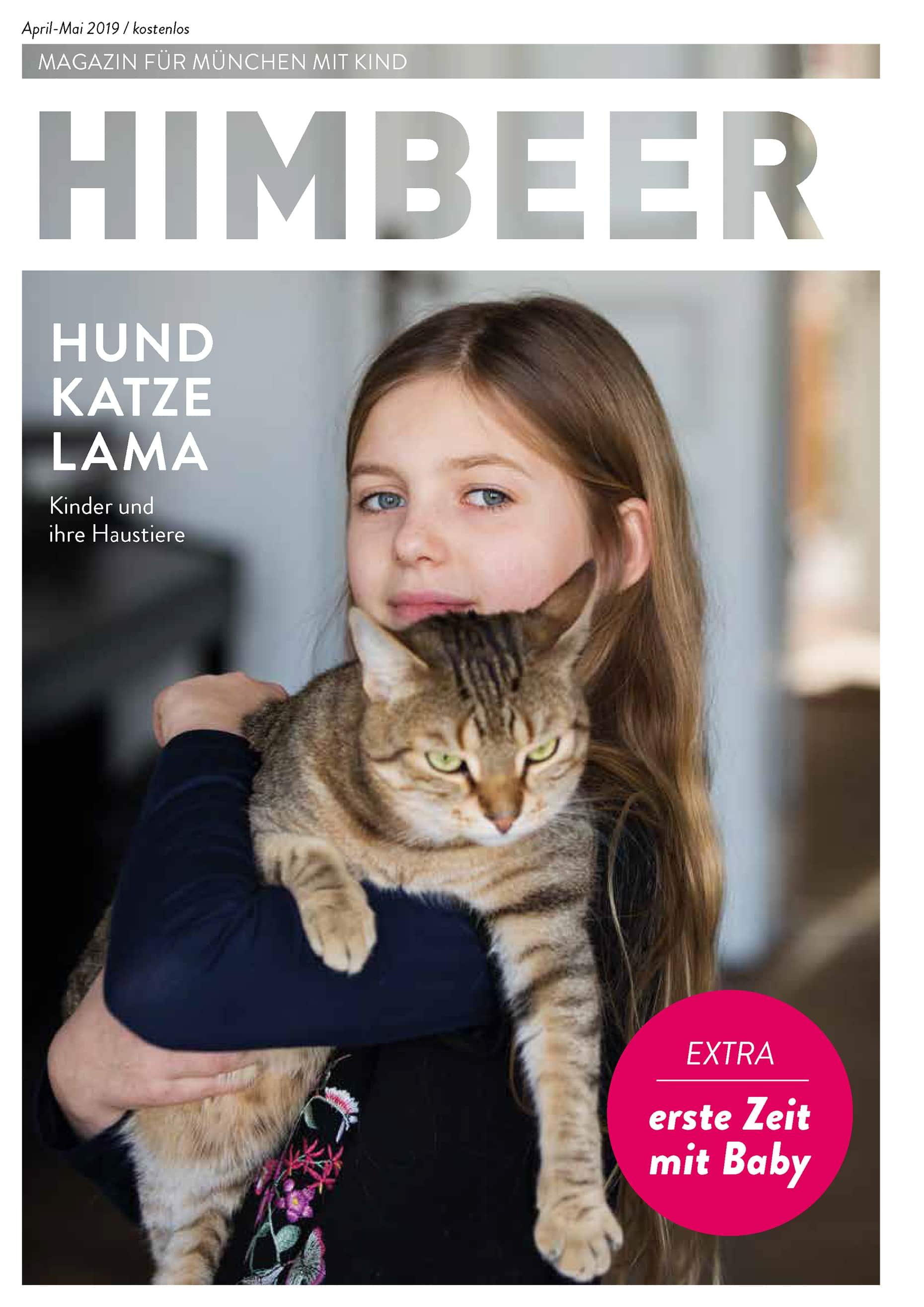 HIMBEER Magazin für München mit Kind April-Mai 2019 // HIMBEER