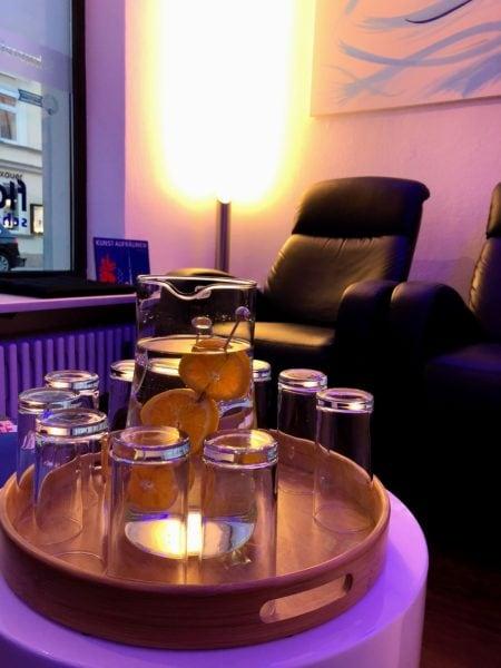 Wellness in the City, Wasser, Zitronen, Deko // München mit Kind