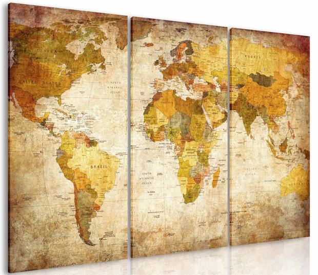 Antike Weltkarte // HIMBEER