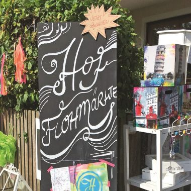 Hofflohmaerkte Hofflohmarkt Tafel // HIMBEER