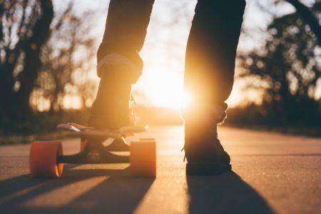Skate and Style Skaten Sonnenuntergang // HIMBEER