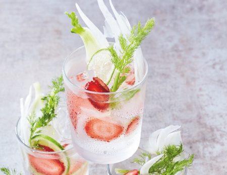 Erdbeer-Limetten-Limonade // HIMBEER