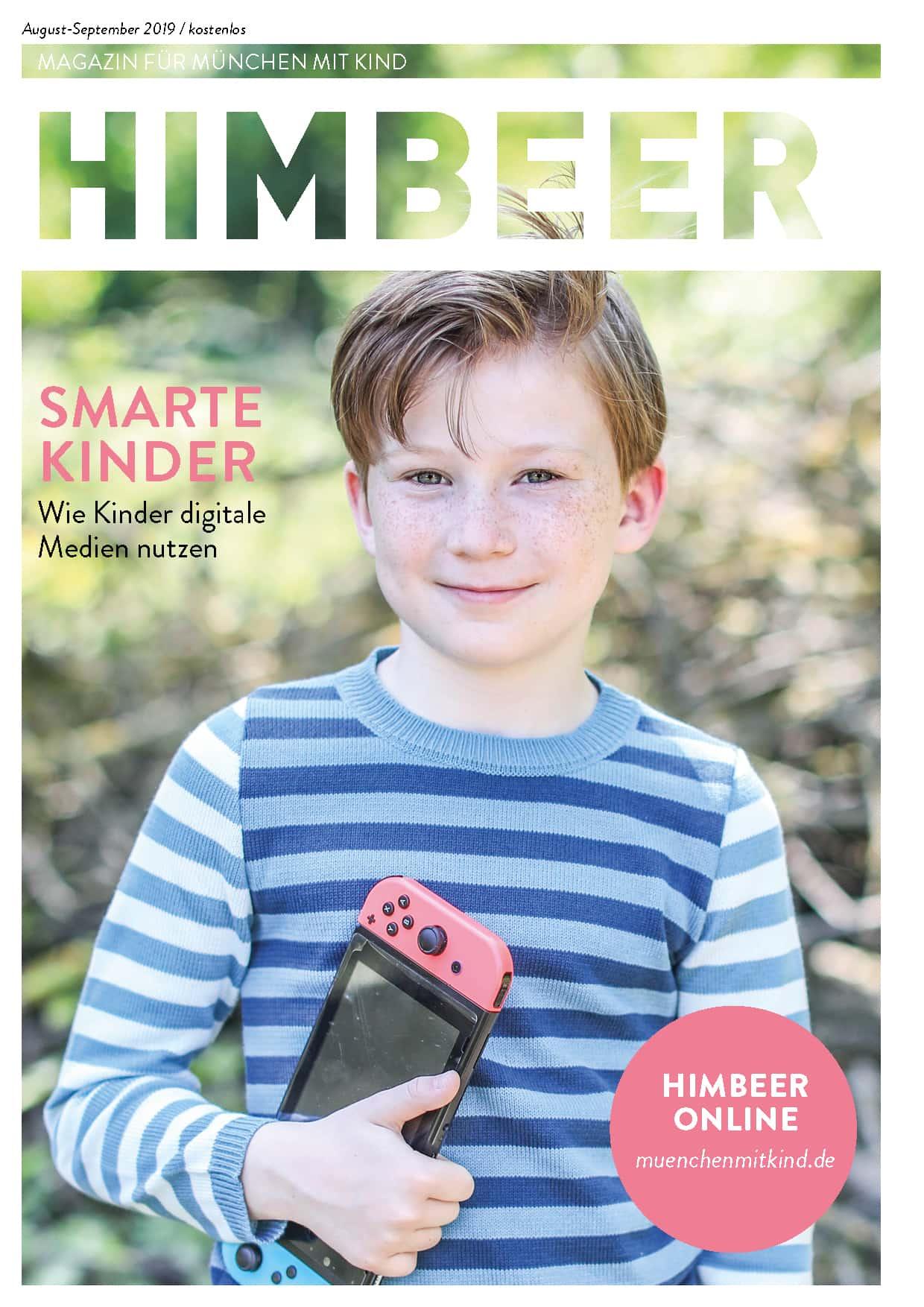 Das Münchner Familienmagazin HIMBEER August-September 2019