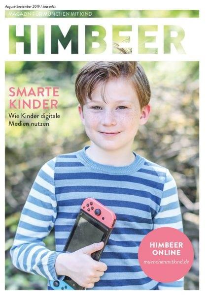 HIMBEER Magazin für München mit Kind August-September 2019 Cover // HIMBEER