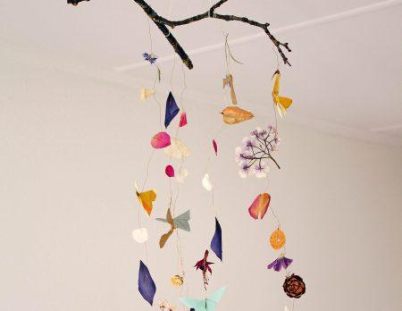 Origami Mobile mit Schmetterlingen // HIMBEER