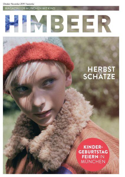 HIMBEER Magazin für München mit Kind Oktober-November 2019 Cover // HIMBEER
