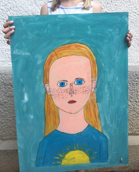 Kindergeburtstag Portrait Basteln // HIMBEER