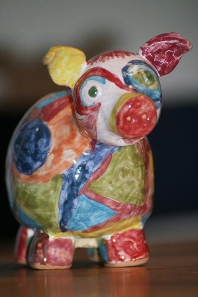 Keramik Schwein Kindergeburtstag // HIMBEER
