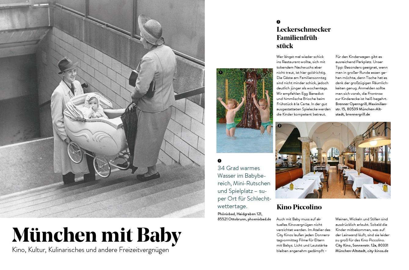 Familien-Freizeit-Guide MUENCHEN MIT KIND 2020, Blick ins Buch: München mt Babys und Kleinkindern // HIMBEER