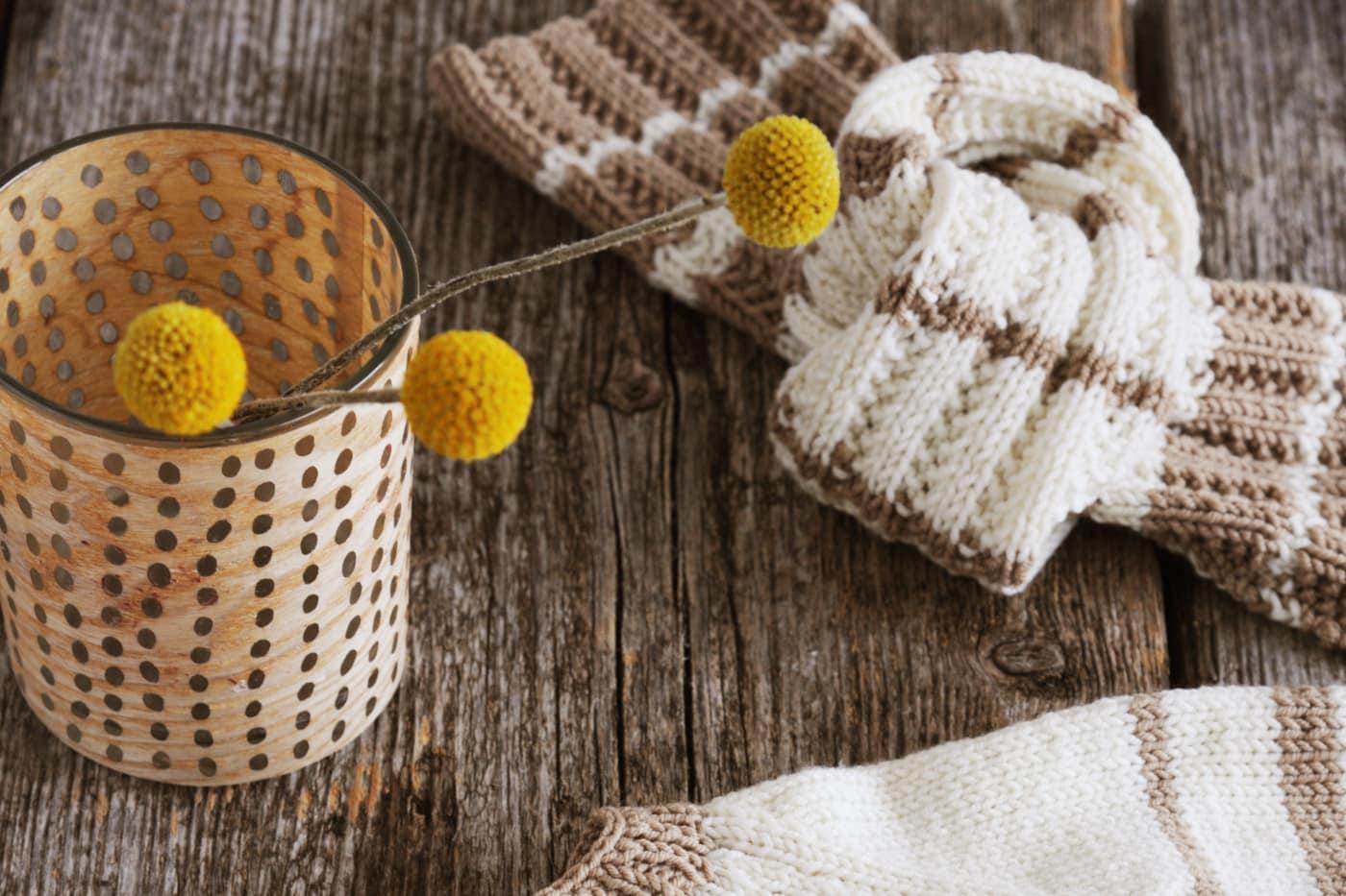 Gemütlichen Schal für Kleinkinder stricken // HIMBEER