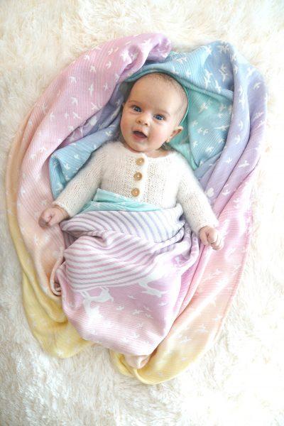 Kokadi Kuscheltuch Baby Bunt Pastell // HIMBEER