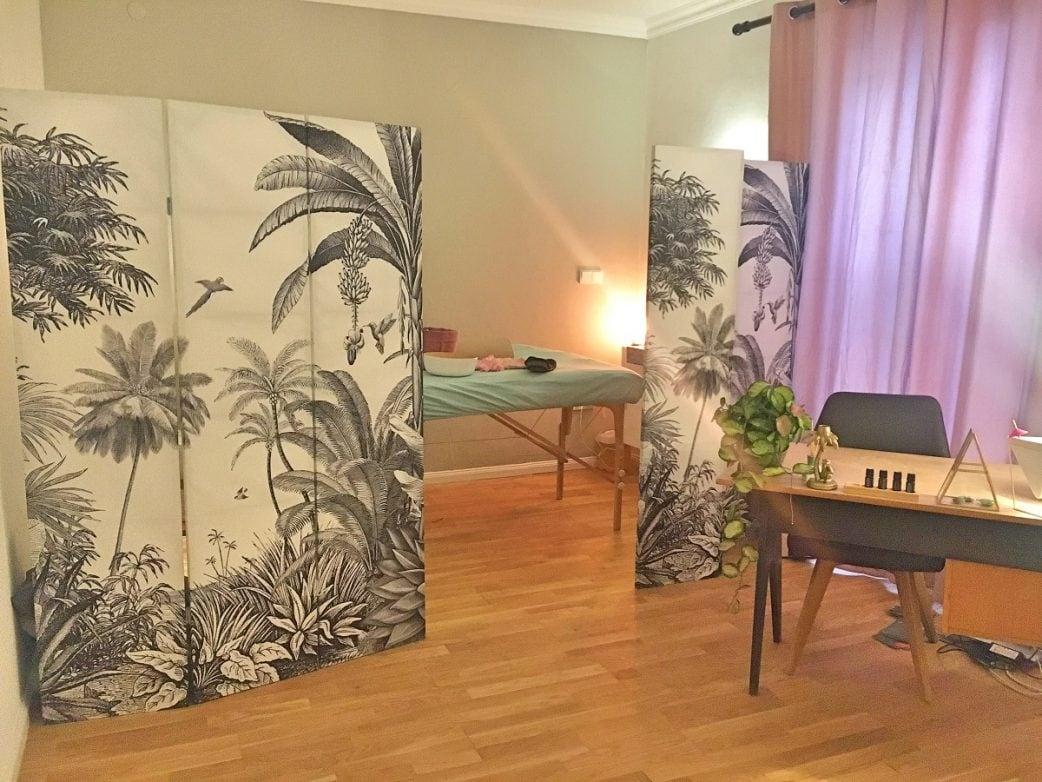 das kleine paradies, massagen, Schwanger, Treatment, Palmen, Behandlungsraum