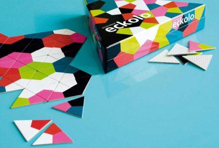 Spiel für Kinder und Erwachsene: Dreieck-Domino Eckolo // HIMBEER