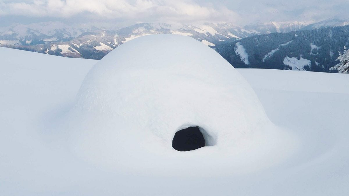 Iglu bauen Winter // HIMBEER