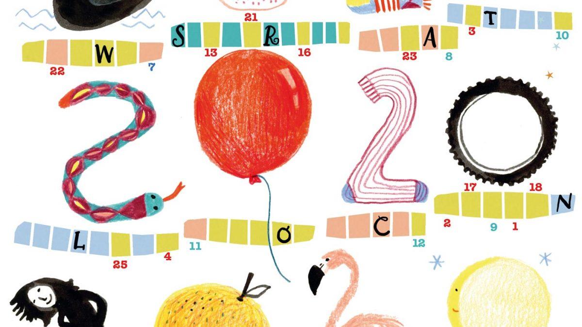 Kostenlose Kinderrätsel im Familienmagazin HIMBEER von Silke Schmidt: Willkommen 2020 // HIMBEER