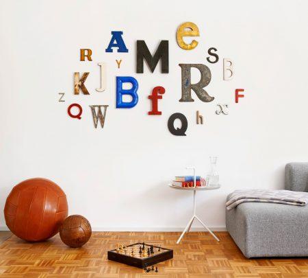 Tolle Geschenkidee: Vintage Retro-Buchstaben vom freundts wohnaccessoires // HIMBEER