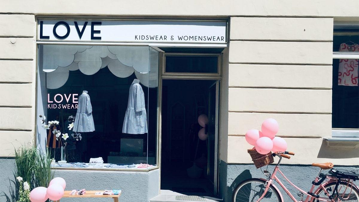 Kleine Läden unterstützen: Ladenfront LOVE Kidswear München // HIMBEER