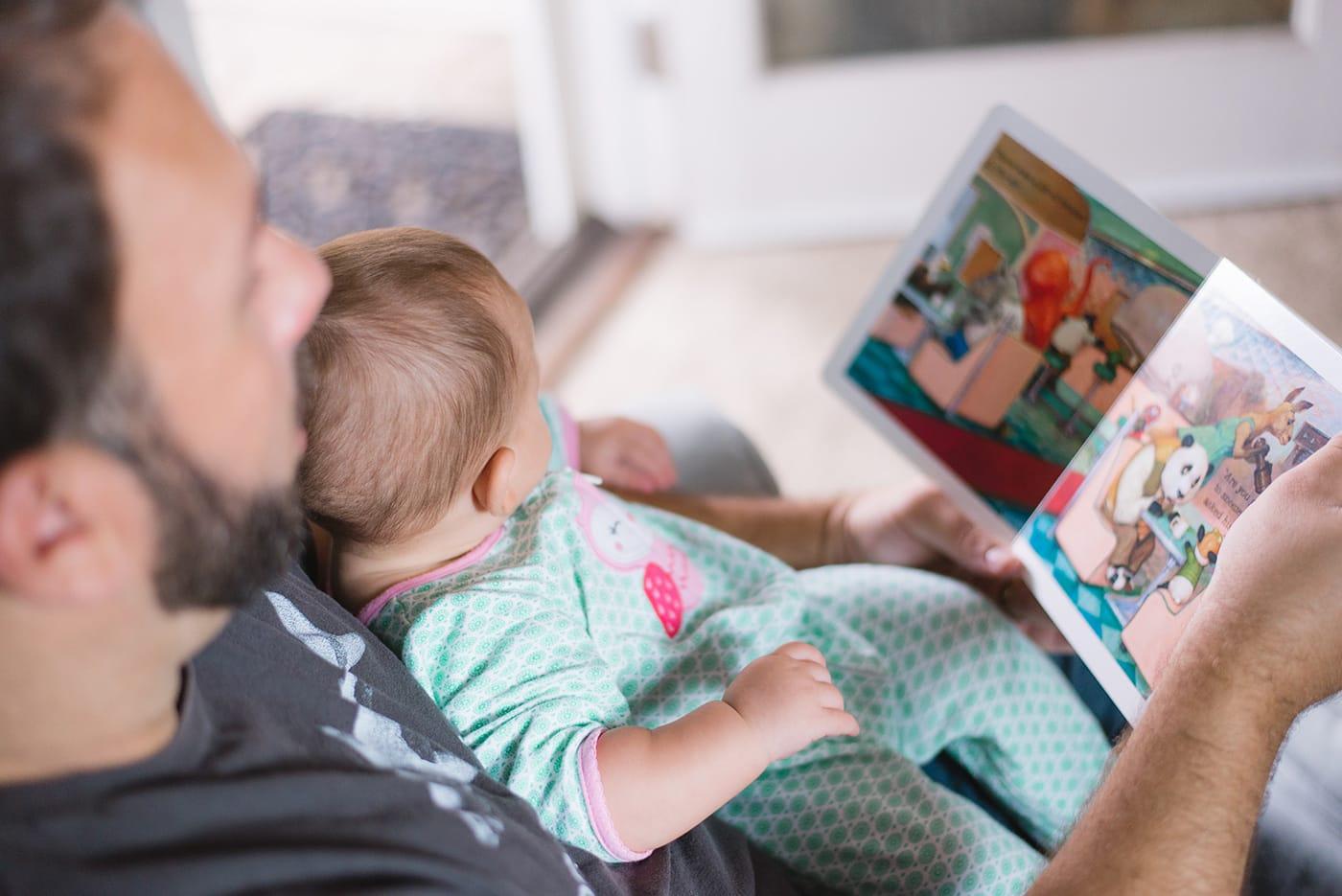 Kleine Läden unterstützen: Bücher lesen mit Vater // HIMBEER