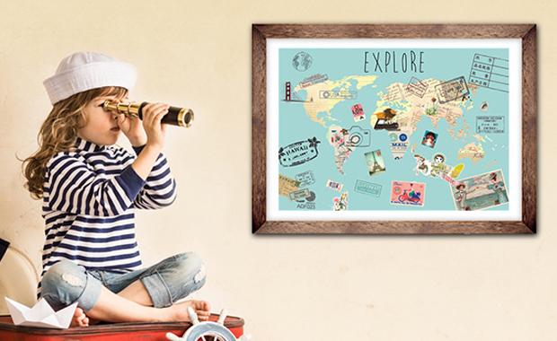 Kinderweltkarte von Posterlounge // HIMBEER